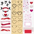 Royalty-Free Stock Imagem Vetorial: Set of Valentine