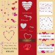Set of Valentine — Stock Vector #15883783