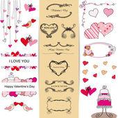Set of Valentine — Stock Vector