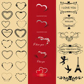 Set of Valentine — Vector de stock