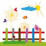 Kids nature — Stock Vector
