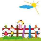 šťastné děti — Stock vektor