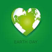 I love earth — Stock Vector