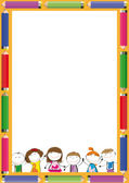 Kinderen frame — Stockvector