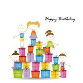 Birthday card — Vector de stock