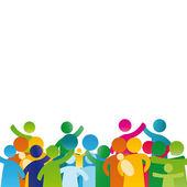 Aile sembollerin — Stok Vektör