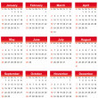 Simple 2014 calendar — Stock Vector