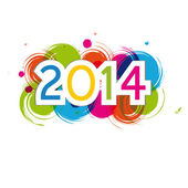 New Year 2014 — Stock Vector