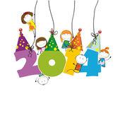 新的一年 2014 — 图库矢量图片