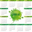Calendar on 2014 year — Vektorgrafik