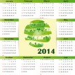 Calendar on 2014 year — Stock Vector #31245511