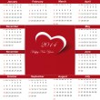 Calendar on 2014 year — Stock Vector #31245605