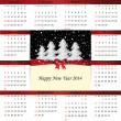 Calendar on 2014 year — Stock Vector #31245677