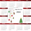 Calendar on 2014 year — Stock Vector #31245709