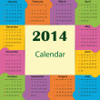 Calendar on 2014 year — Stock Vector #31245721