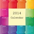 Calendar on 2014 year — Stock Vector #31245723
