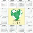 New Year 2014 calendar — Stockvektor