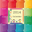 Calendar on 2014 year — Stock Vector #31245777