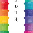 Calendar on 2014 year — Stock Vector #31245787