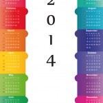 Calendar on 2014 year — Stock Vector #31245787