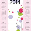 Calendar on 2014 year — Stock Vector