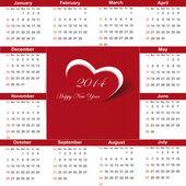 Calendar on 2014 year — Stock Vector