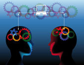 Social education communication concept — Stock Vector