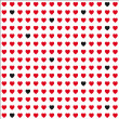 Seamless  heart patter — Stock Vector