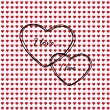 Valentine hearts pattern — Stock Vector