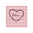 Greeting card of hearts — Stock Vector #33758689