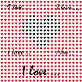 Patrón de corazones de san valentín — Vector de stock