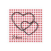 Greeting card of hearts — Stock Vector
