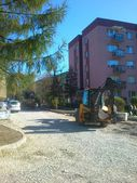 Work on street, Bielsko-Biala Poland — Stock Photo