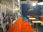 The Coffee Factory open in Gemini galery in Bielsko-Biala in Poland. New cafe — Foto de Stock