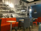 The Coffee Factory open in Gemini galery in Bielsko-Biala in Poland. New cafe — Stok fotoğraf