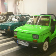 Fiat 126p. Historic small car produced in Poland. Exchibition of vintage cars in Gemini galery in Bielsko-Biala in Poland — ストック写真