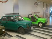 Fiat 126p. Historic small car produced in Poland. Exchibition of vintage cars in Gemini galery in Bielsko-Biala in Poland — Stockfoto