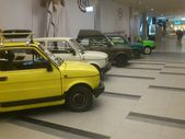 Fiat 126p. Historic small car produced in Poland. Exchibition of vintage cars in Gemini galery in Bielsko-Biala in Poland — Foto Stock