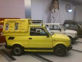 Fiat 126p. Historic small car produced in Poland. Exchibition of vintage cars in Gemini galery in Bielsko-Biala in Poland — Foto de Stock