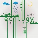 Ecology elements — Stock Vector