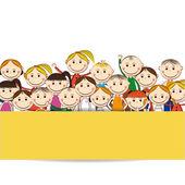 Niños felices — Vector de stock
