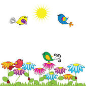 птицы — Cтоковый вектор