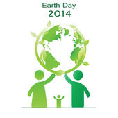 Earth day — Vector de stock
