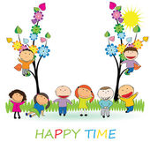 Happy time — Stock Vector