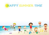 Happy summer time — Stock Vector