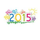 Nuevo año 2015 — Vector de stock
