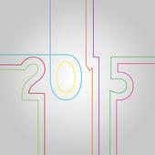 Nuovo anno 2015 — Vettoriale Stock