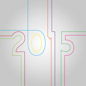 Novo ano 2015 — Vetor de Stock