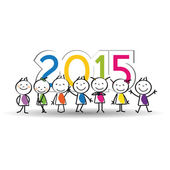 Nouvel an 2015 — Vecteur