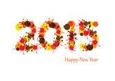 В новогоднем 2015 — Cтоковый вектор